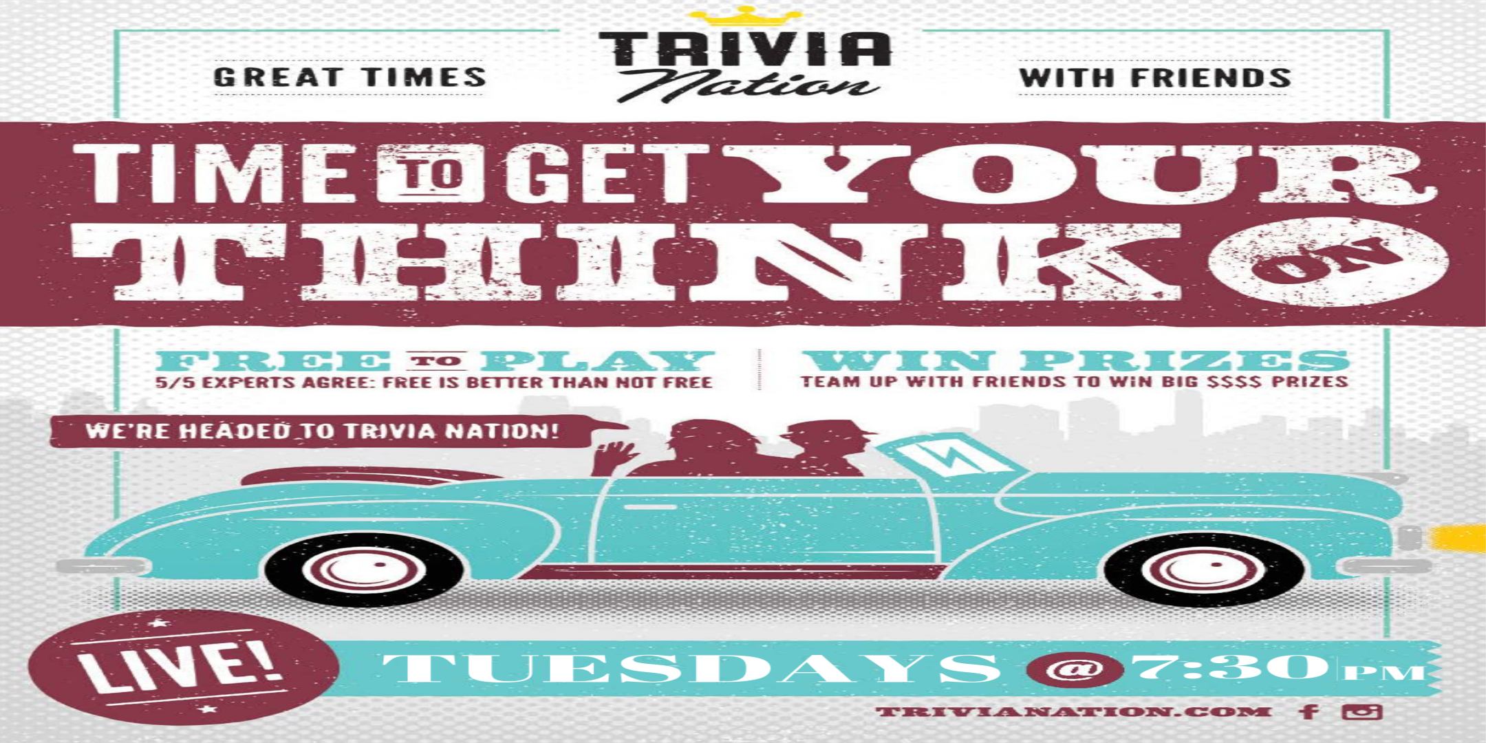 Trivia Nation Free Live Trivia at Crooked Can brewing Co. Tuesday 7:30pm