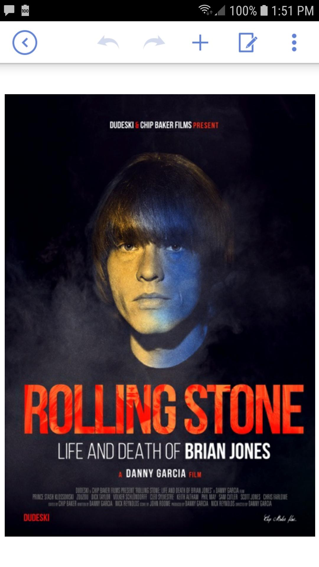 Rolling Stone Life and Death of Brian Jones Asbury Park film screening
