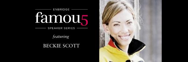 2020 Enbridge Famous 5 Speaker Series with Beckie Scott.