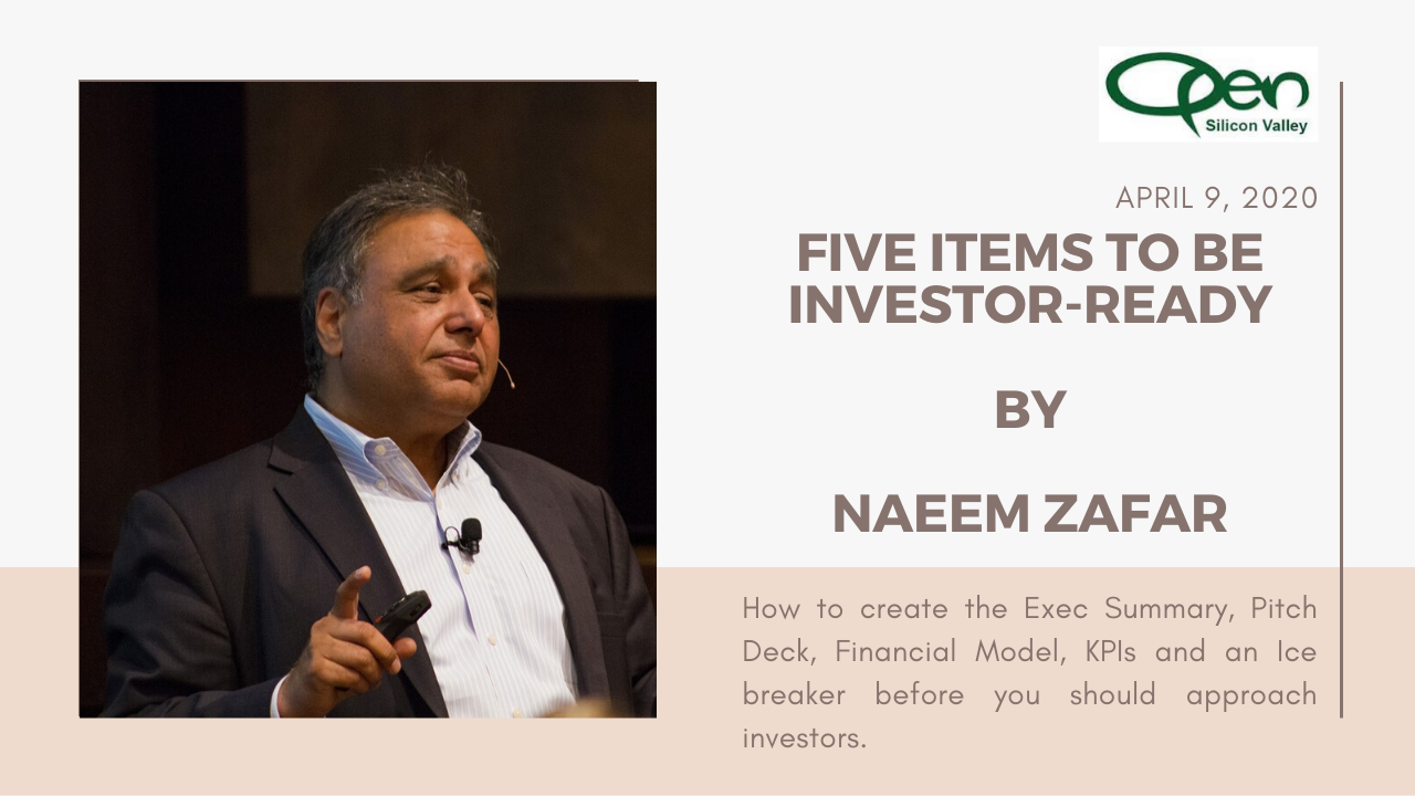 Five Items to be Investor-Ready