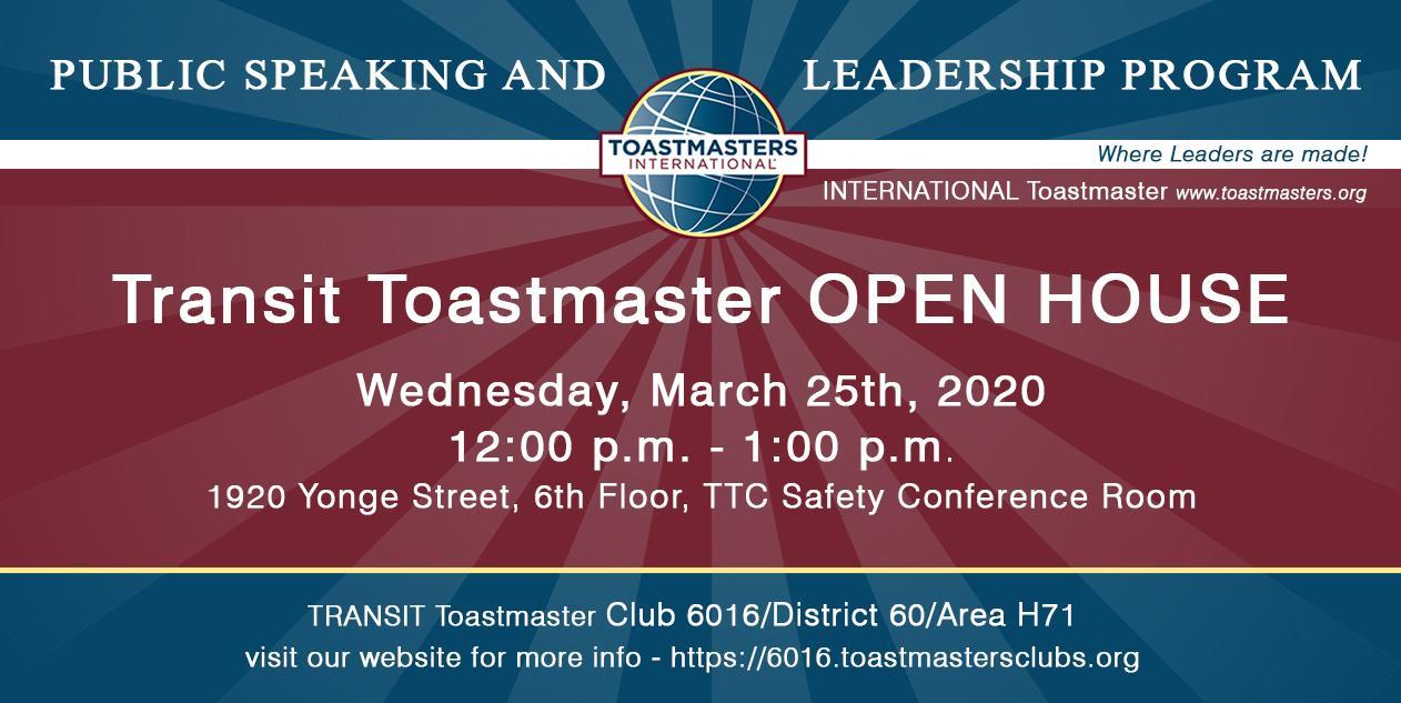 Transit Toastmaster Club Meeting