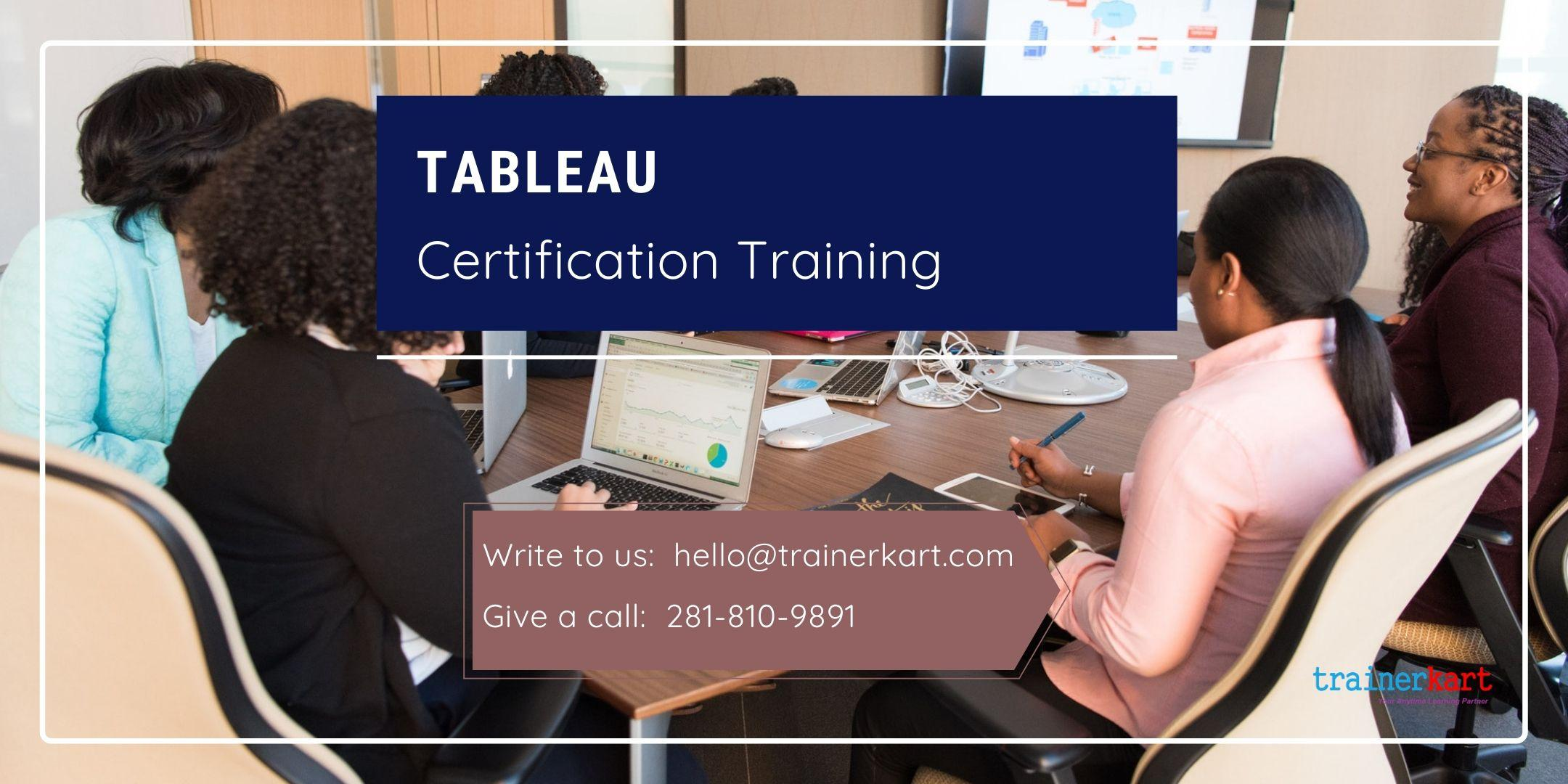 Tableau 4 day classroom Training in Los Angeles, CA