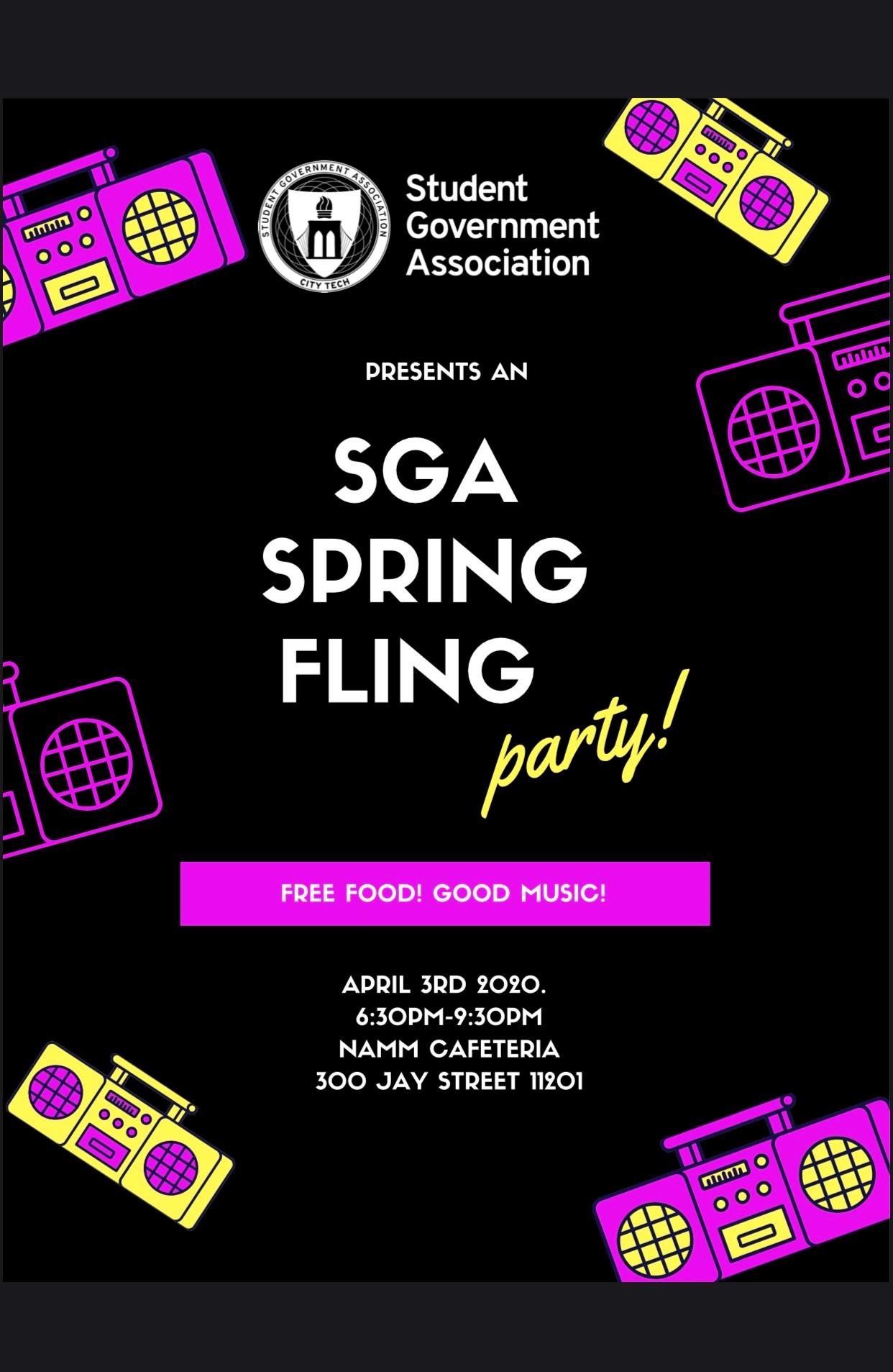 SGA SPRING FLING Semester Party
