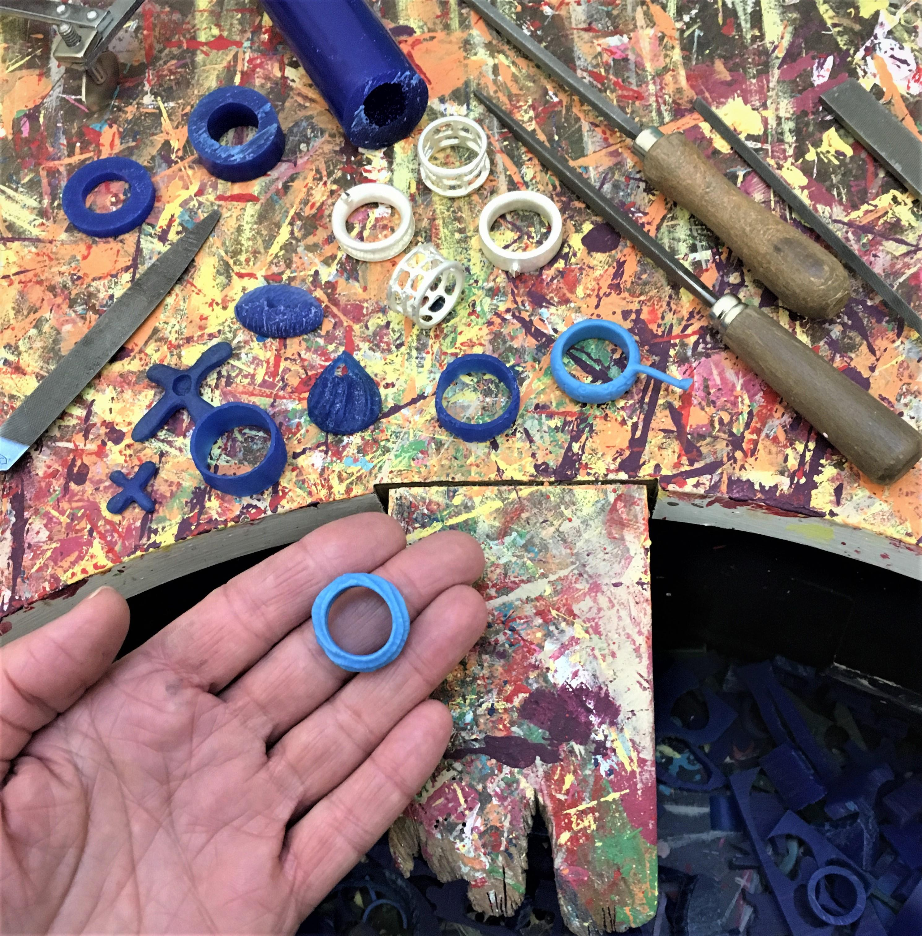 Make your own RING or PENDANT- wax carving workshop- (Silver inc in price)