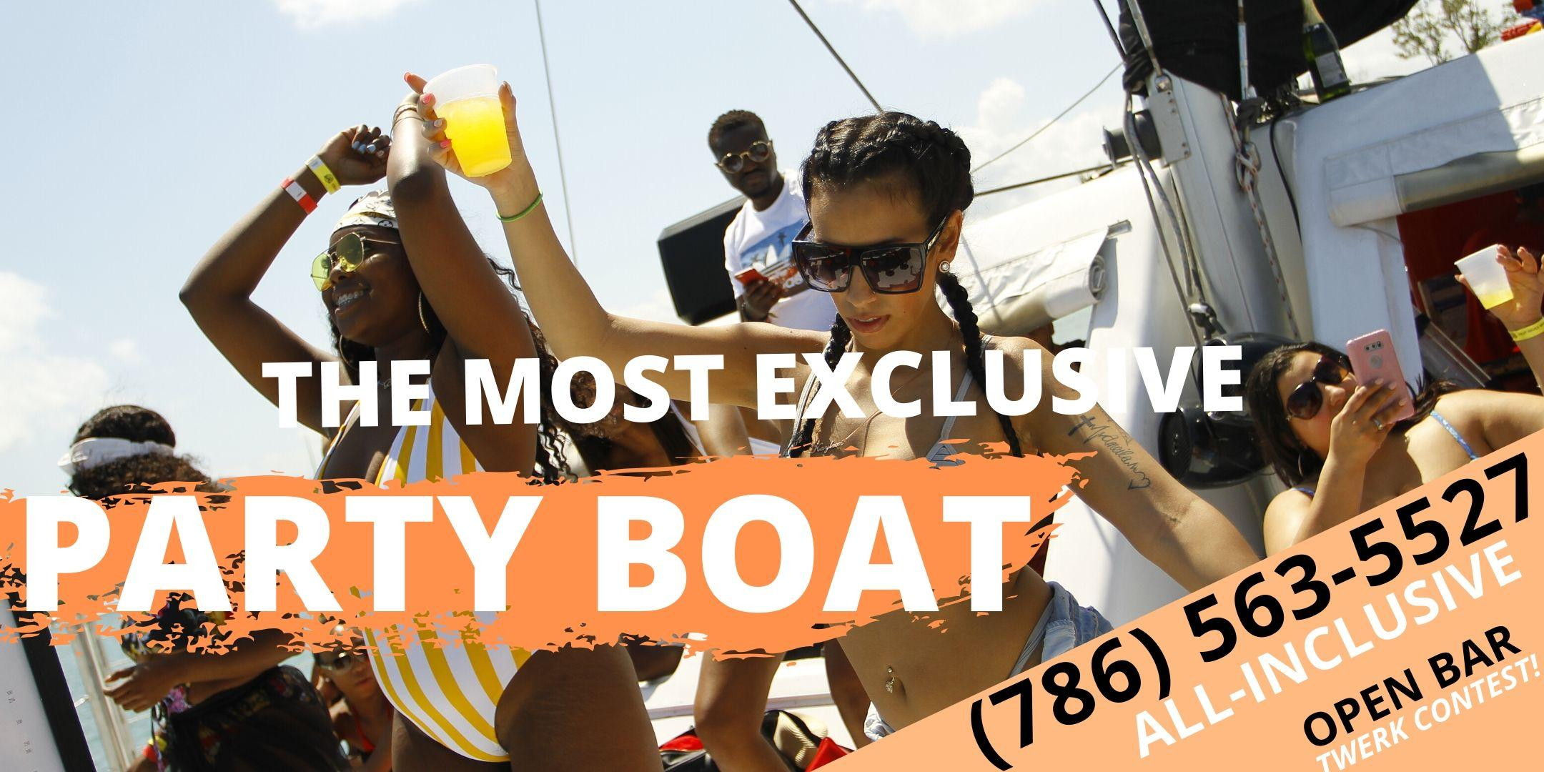 #SPRING BREAK Edition! #1 Miami BOAT PARTY!