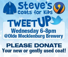 TweetUp and Coat Drive Kickoff with WSOC and Steve's Coats...