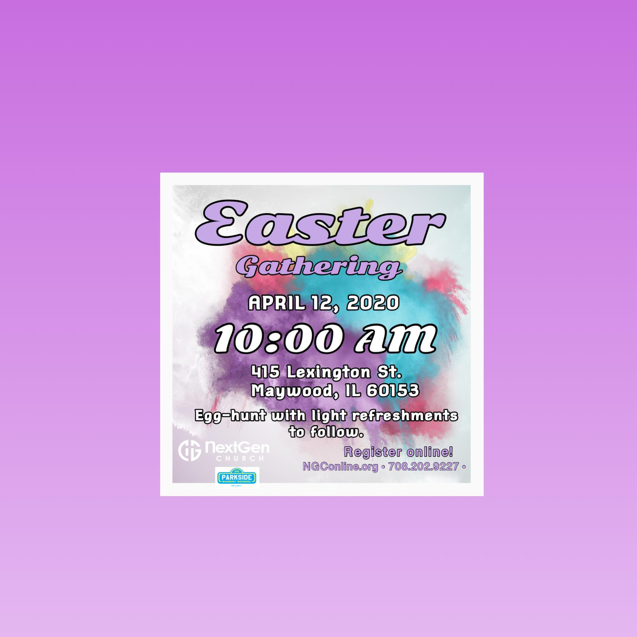 Easter Gathering and Egg Hunt at Next Gen