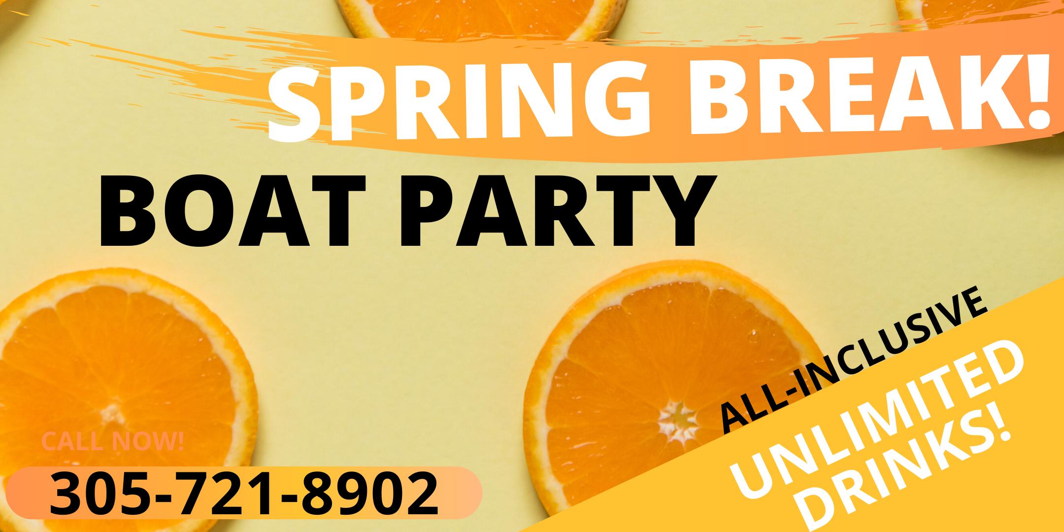 Miami Party Boat- Spring Break