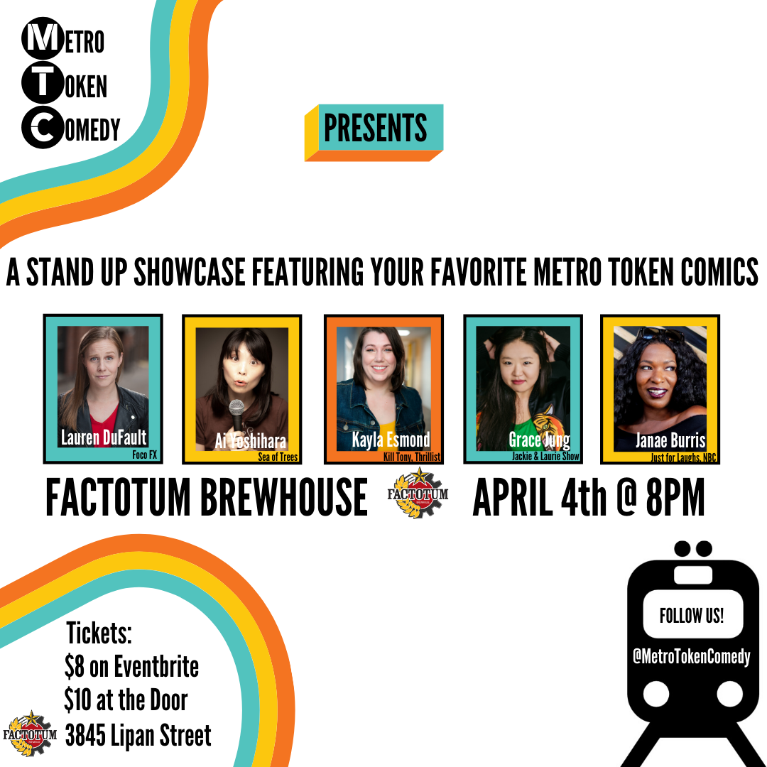 Metro Token Comedy Show at Factotum Brewery (Denver, CO) April 4, 8PM