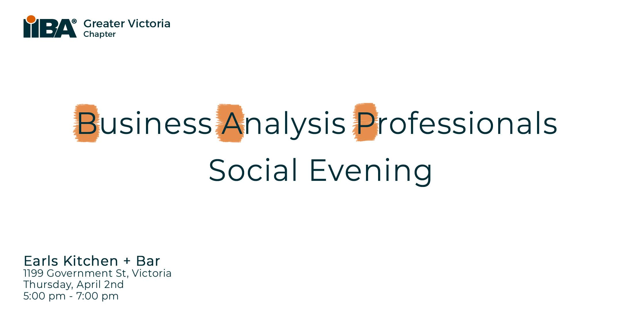 Business Analysis Professionals Social Evening