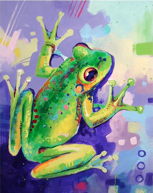 Tree Frog - Social Art Class