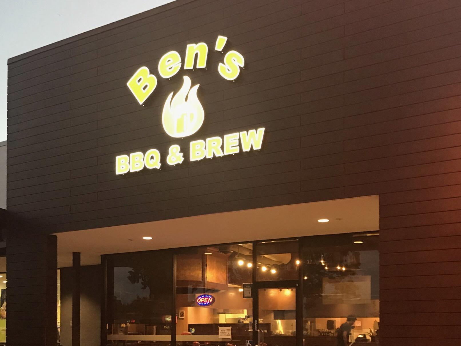 Open mic night at Ben's BBQ & Brew