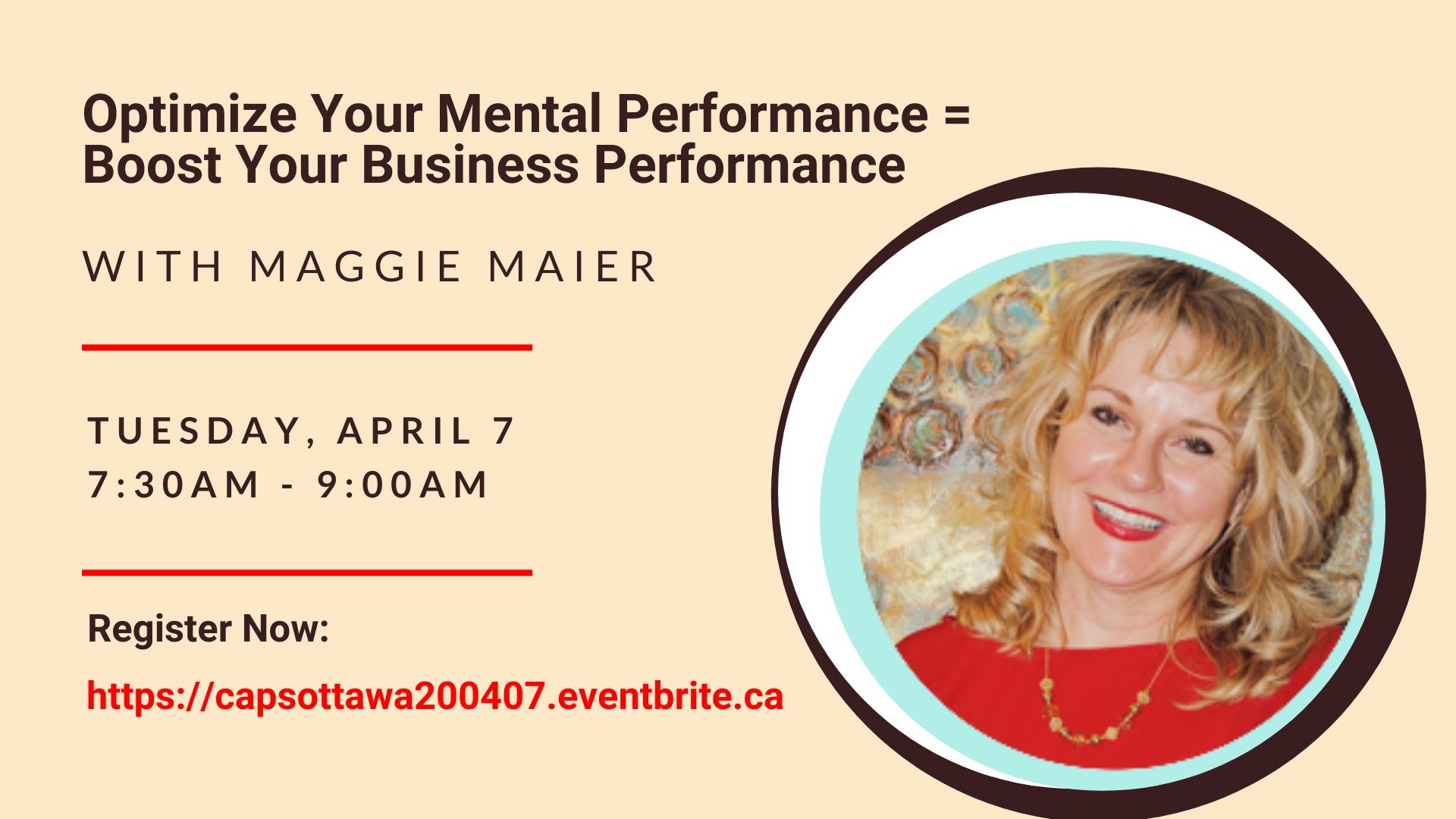 Optimize Your Mental Performance = Boost Your Business Performance with Maggie Maier