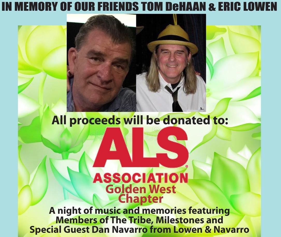 ALS BENEFIT in memory of Tom Dehaan and Eric Lowen (Doors 6:30pm)