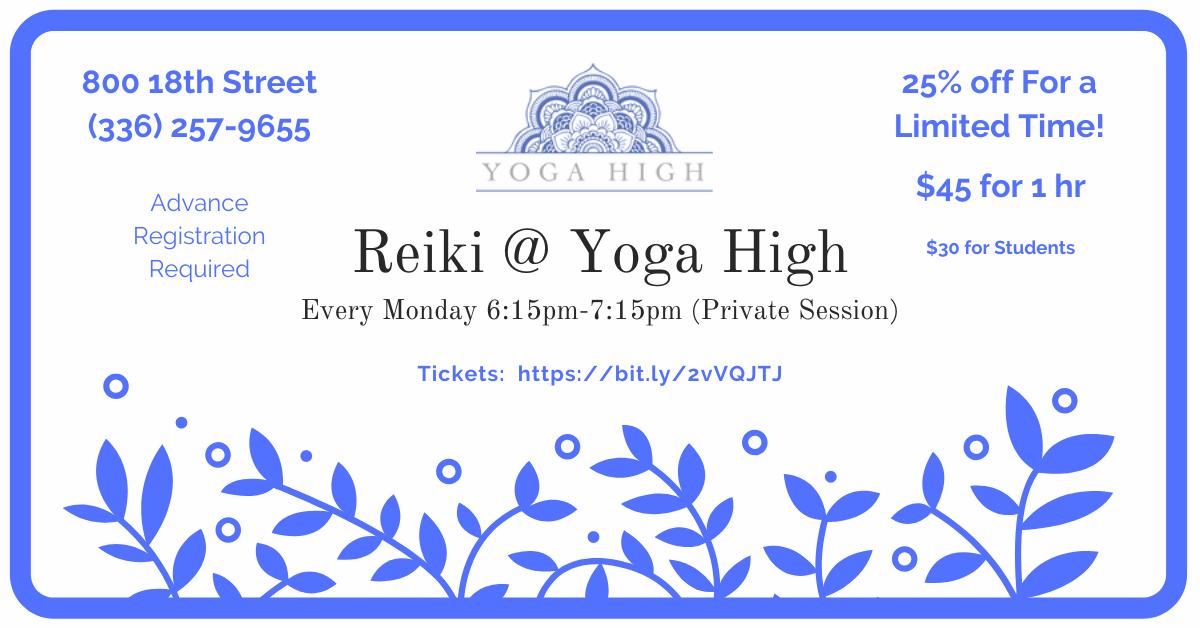 Private Reiki Session @ Yoga High