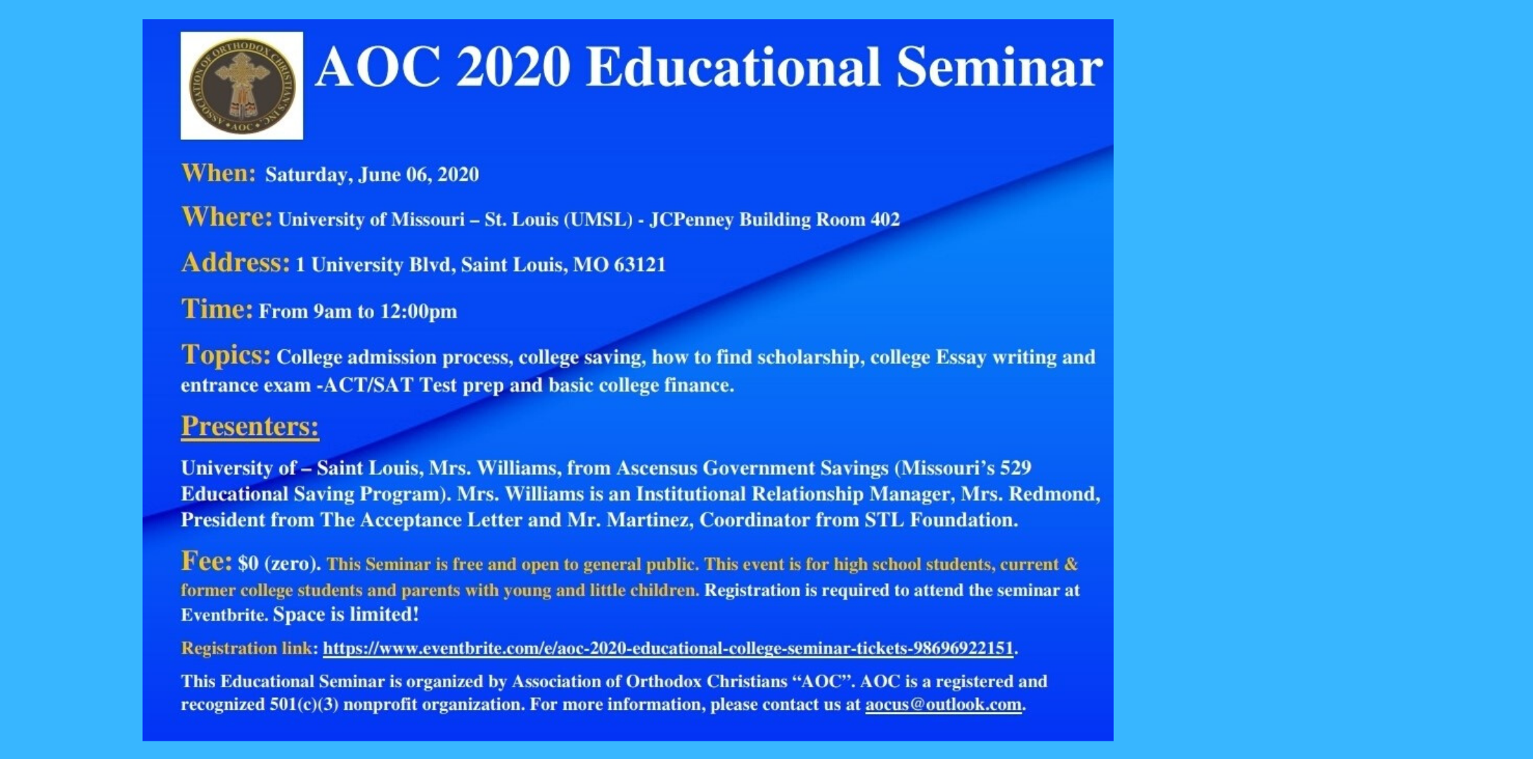 AOC 2020 Educational College Seminar