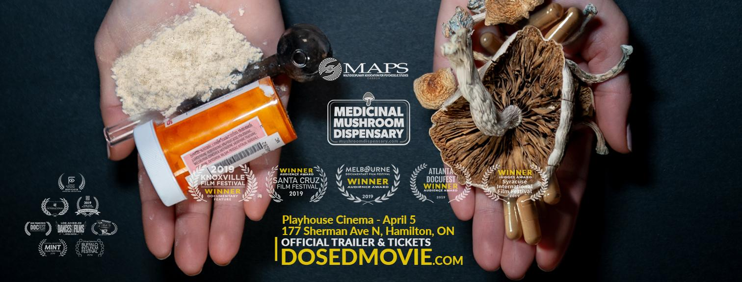 April 5th! DOSED Documentary + Q&A at Playhouse Cinema - Hamilton!