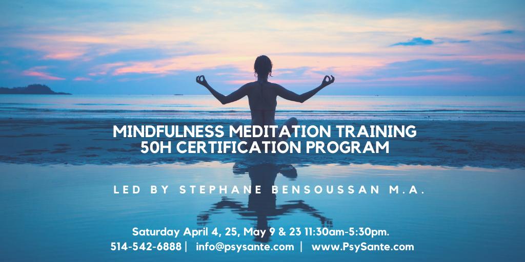 Mindfulness Meditation Teacher Training -50h certification