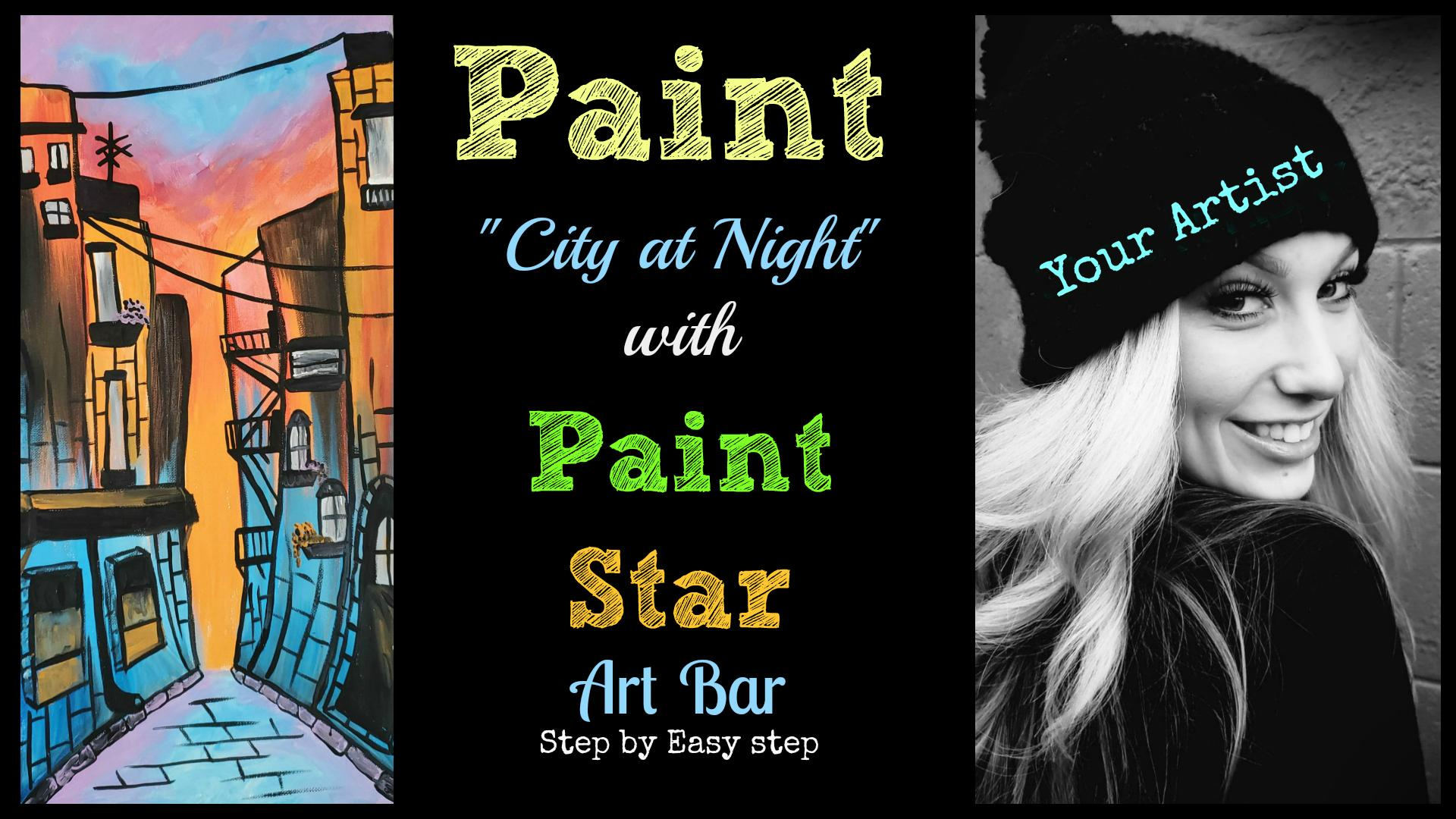 Paint City at Night Vancouver