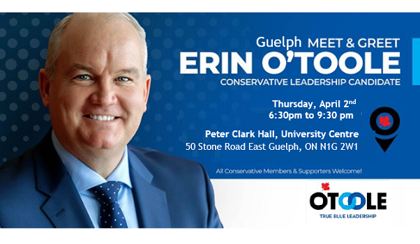 Guelph Meet & Greet with Erin O'Toole, Conservative Leadership Candidate