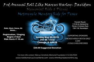 "3rd Annual ""Role/Roll"" Like Marcus Harley Davidson Ride"