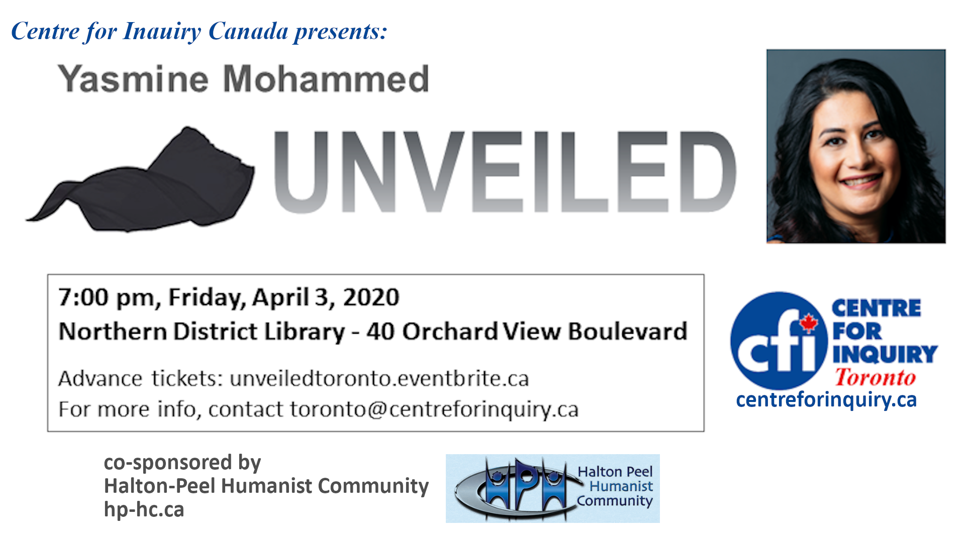 Unveiled with Yasmine Mohammed (Toronto)