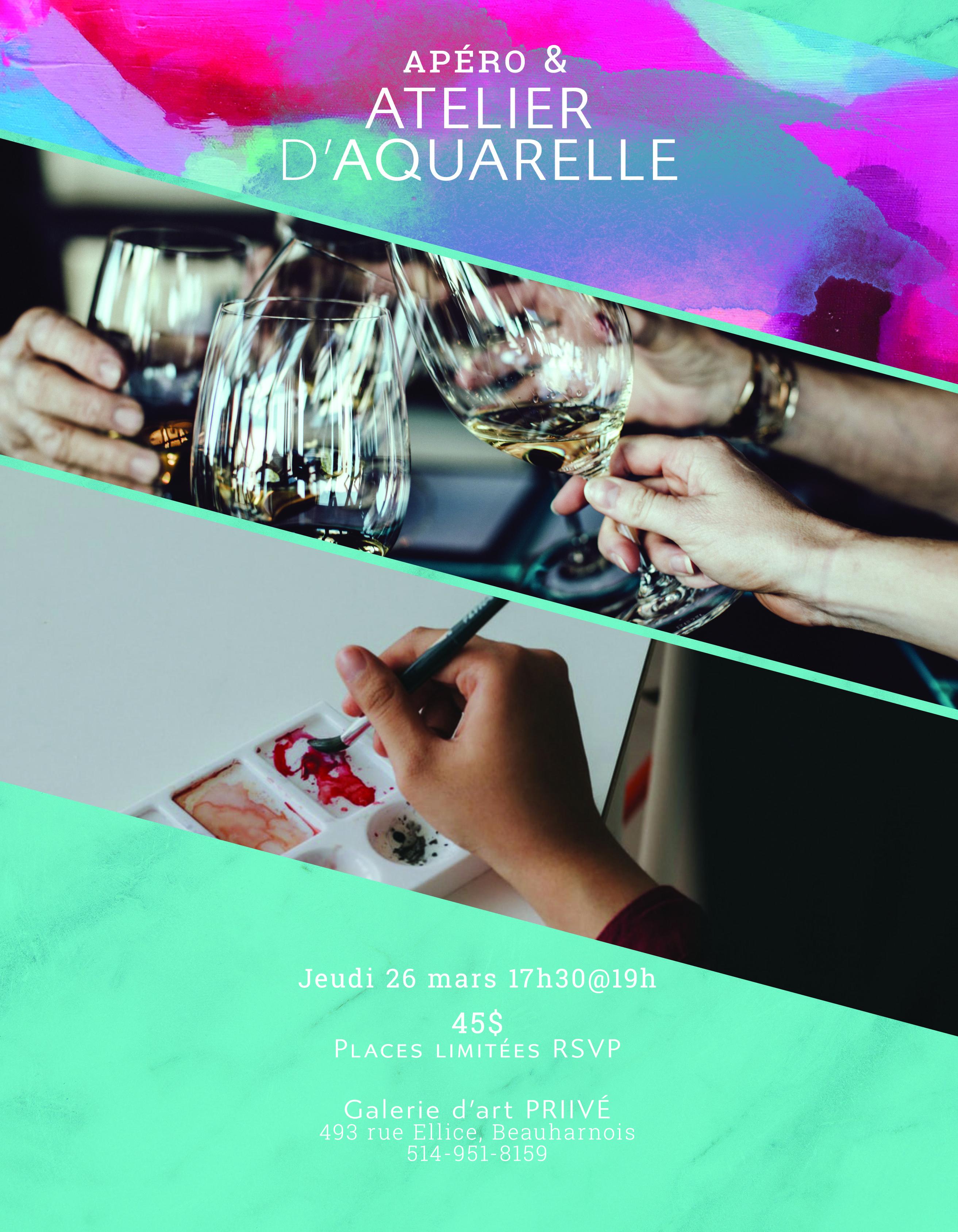 (REMIS) Apéro & Atelier d'aquarelle a la galerie d'art PRIIVÉ
