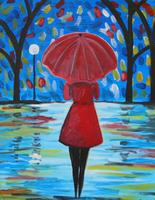 Two-Hour Painting Class + Wine (Stroll in the Rain)