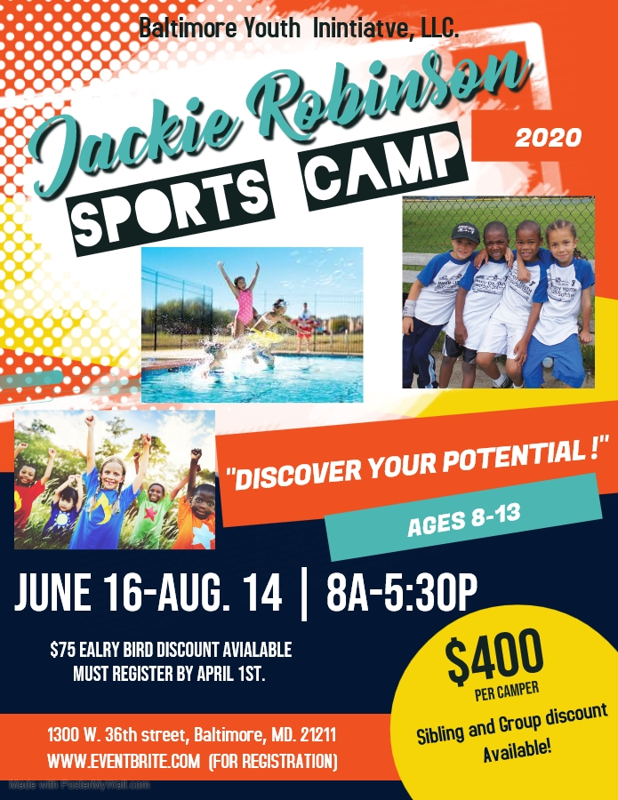 Jackie Robinson Summer Sports Camp 2020