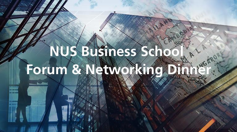 NUS Alumni in SF networking with NUS BIZ School Dean, Andrew Rose