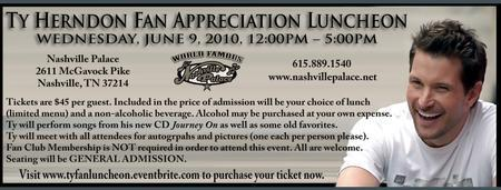 TY HERNDON FAN APPRECIATION LUNCHEON