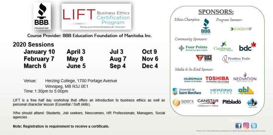 LIFT Business Ethics Certification Program