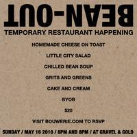 Bean-Out: Temporary Restaurant Happening