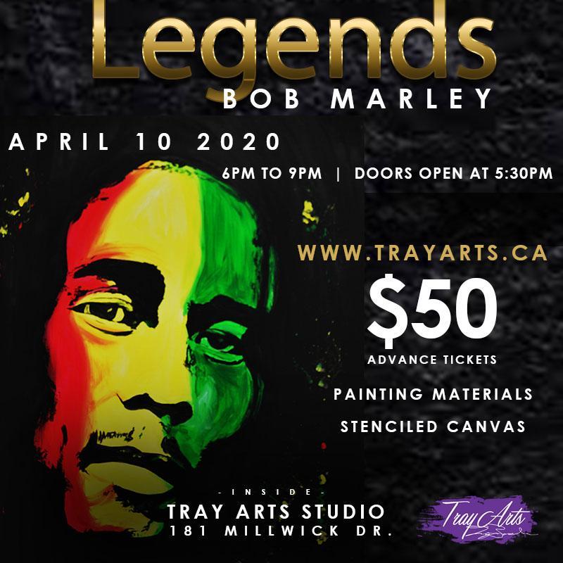 Bob Marley Legends Paint Night