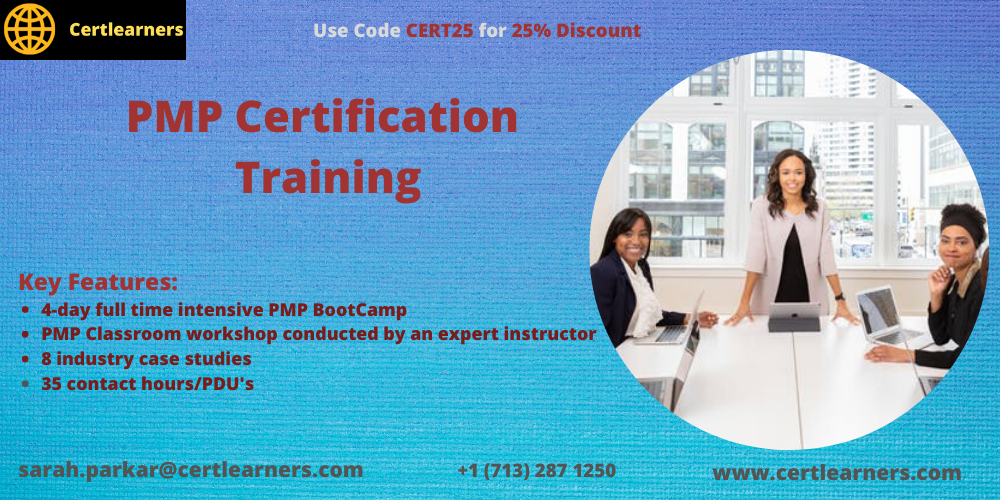 PMP 4 Days Classroom Certification Training in Arcadia, CA,USA