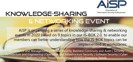 AiSP Knowledge-Sharing & Networking Event on Cyber...