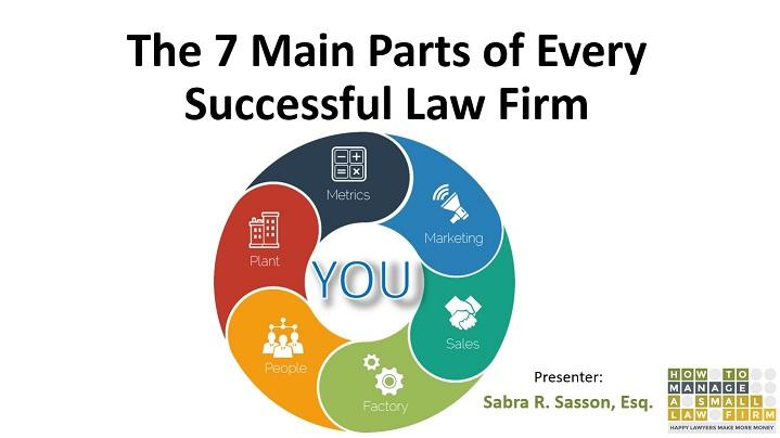 The 7 Main Parts of Every Successful Law Firm