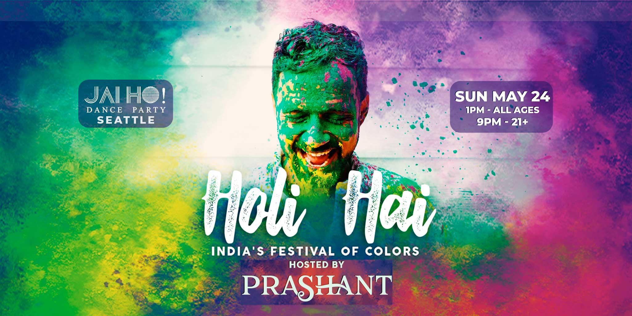 Holi Hai! All Ages Color Festival in Seattle w/ DJ Prashant