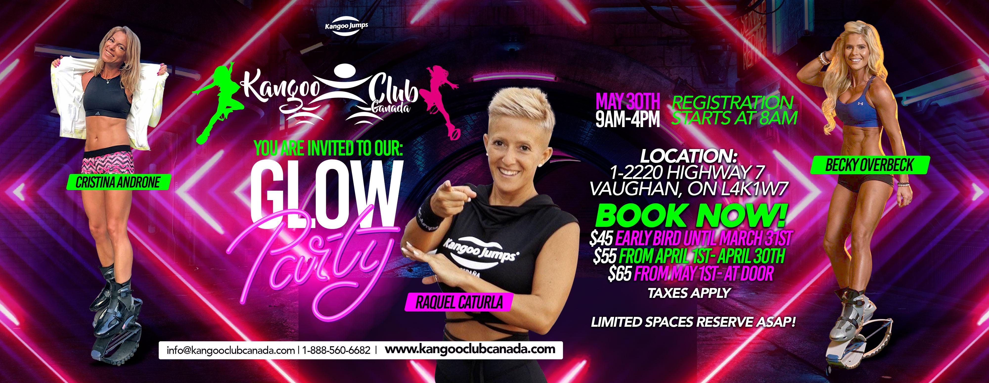 Kangoo Jumps Glow Party