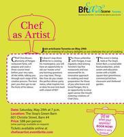 artsScene Toronto presents Chef as Artist with Chef Chr...
