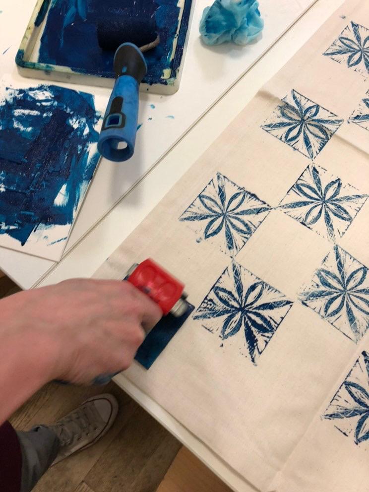 Block Printing textile workshop