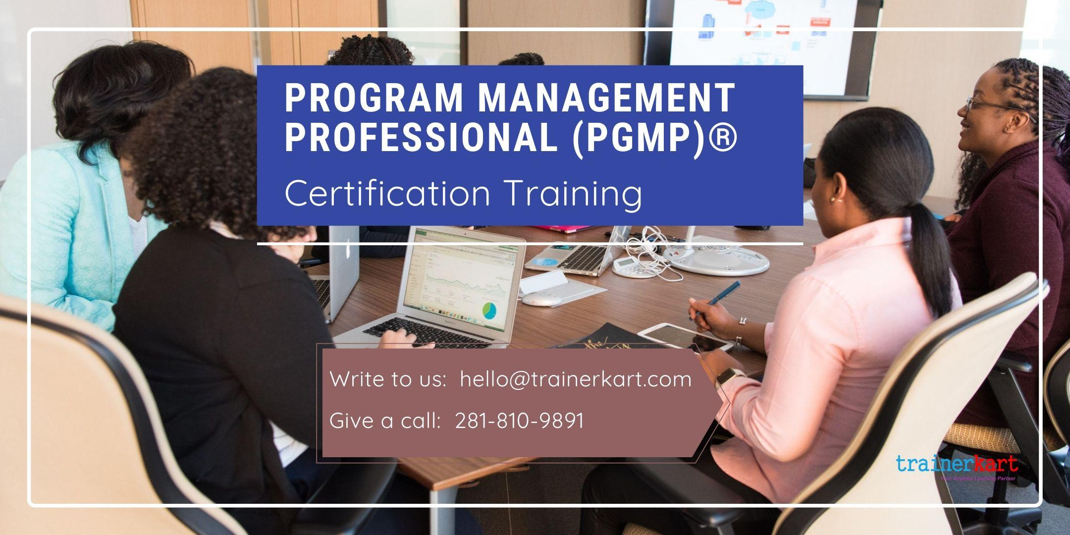 PgMP 3 day classroom Training in Chambly, PE