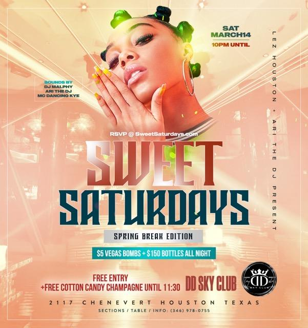 SWEET SATURDAYS - #1 ALL GIRL PARTY EVERY SATURDAY IN HOUSTON!