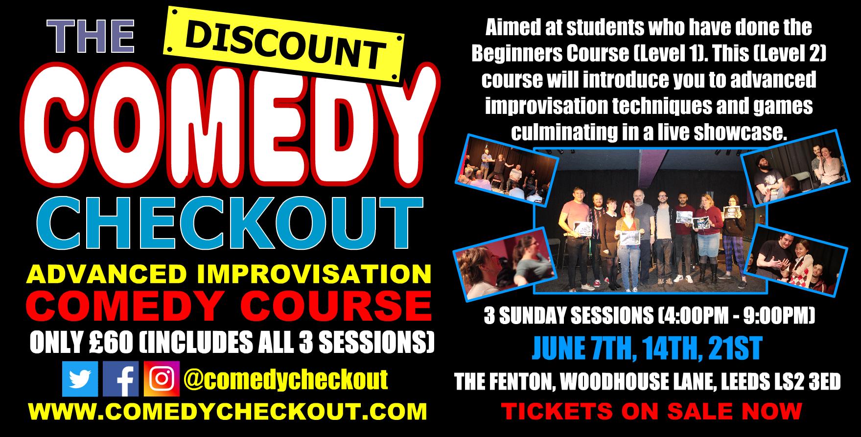 DCC - Advanced Improvisation Comedy Course - June - Leeds (3 Sundays)