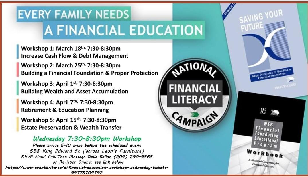 Financial Education Workshop-Wednesday