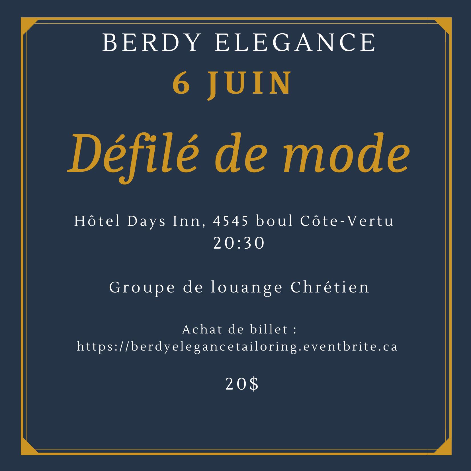 Défilé de mode Berdy Elegance