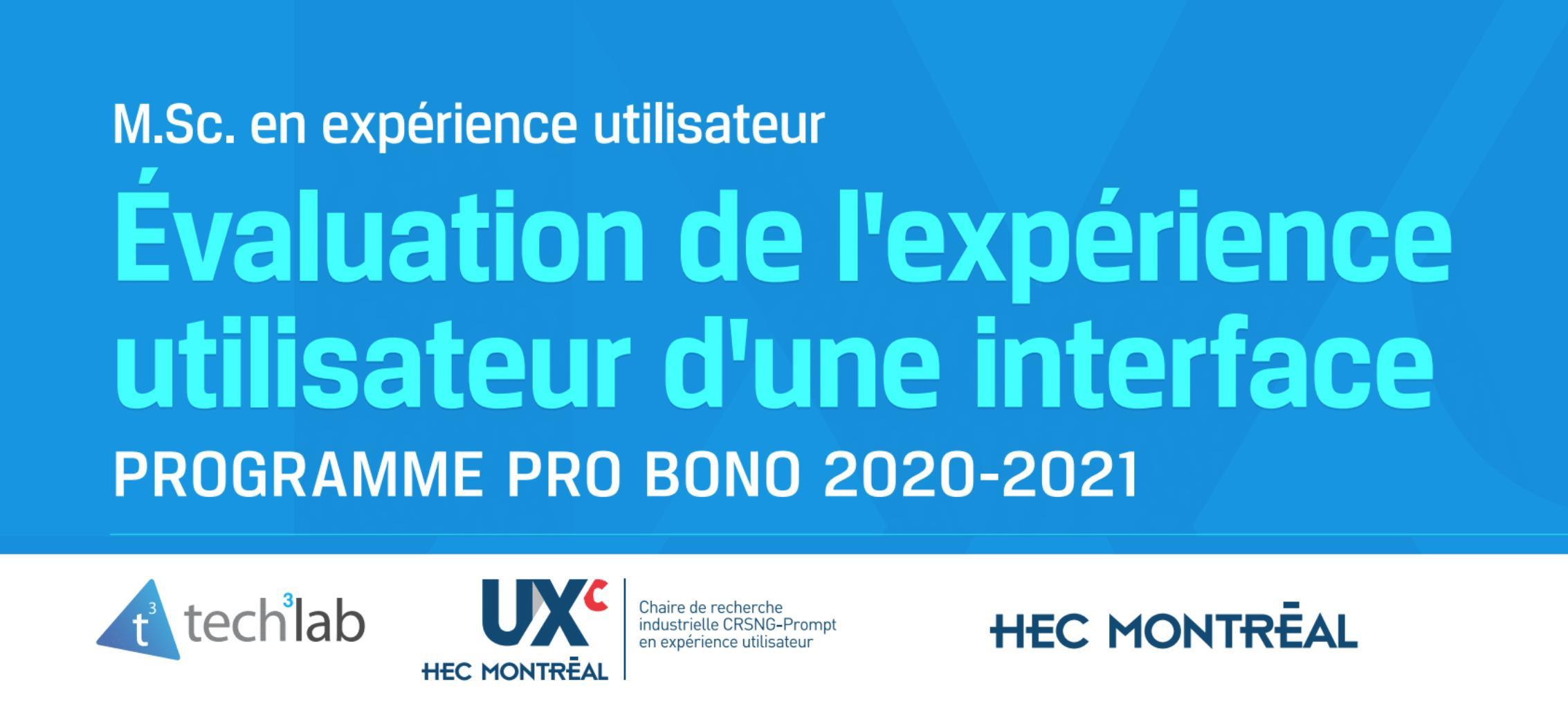 UX Evaluation - Client Project Presentations Winter 2020