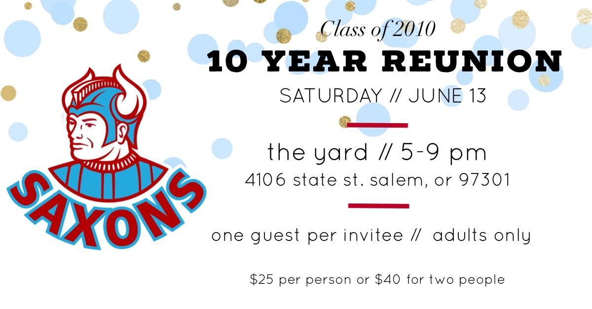 SSHS Class of 2010 Reunion