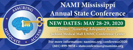 NEW DATES: NAMI Mississippi's 2020 State Conference