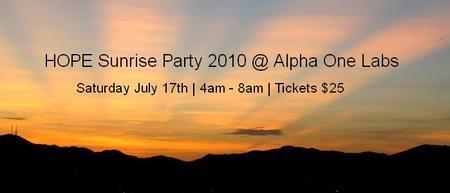 HOPE Sunrise Party 2010